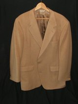 100 % Camel Hair Jacket 42 Regular Tan in Glendale Heights, Illinois